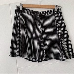 Forever 21 Black & White Buttoned Mini Skirt
